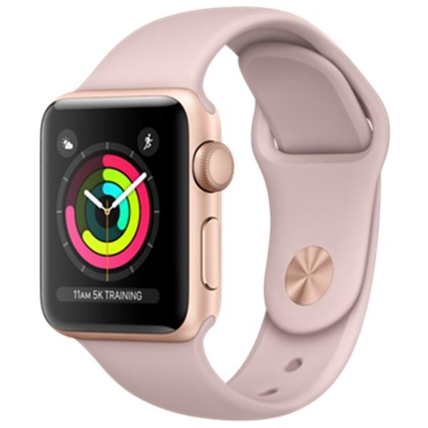 Apple Watch series 3 38mm, Zlatý hliník pískově růžový sportovní řemínek