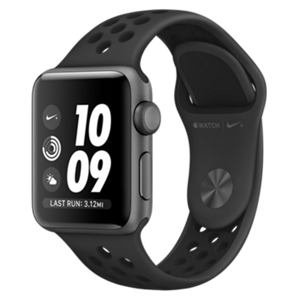 Apple Watch Nike+ 38mm, vesmírně šedý hliník s antracitovým/černým Nike sportovním řemínkem