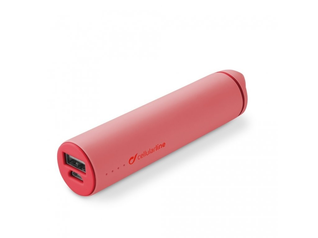 STYLE&COLOR powerbanka Cellularline POCKET 2200mAh, růžová
