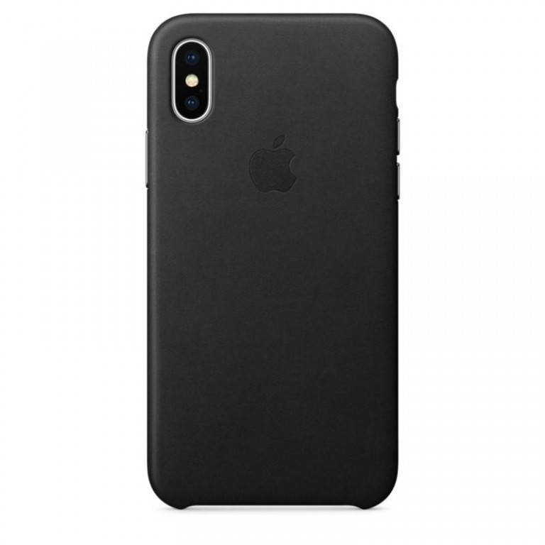 Apple iPhone X Leather Case MQTF2ZM/A - Charcoal gray