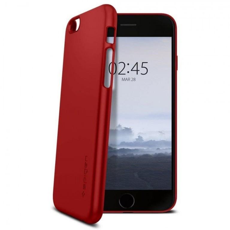 Spigen Thin Fit kryt Apple iPhone 6/6S červený