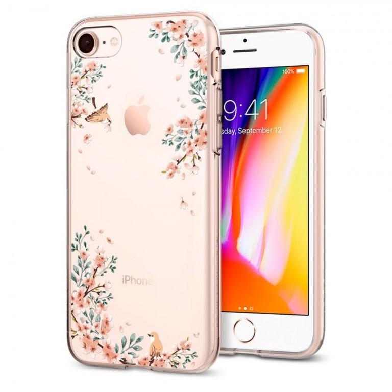 Kryt Spigen Liquid Crystal Blossom pro Apple iPhone 7/8 nature
