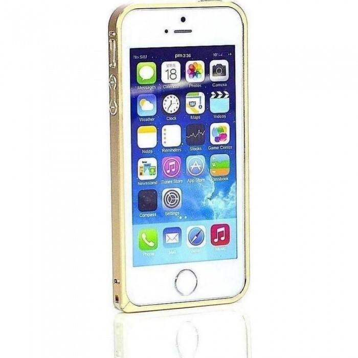 PureProtection Aluminium Bumper pro Apple iPhone 5/5s/SE gold