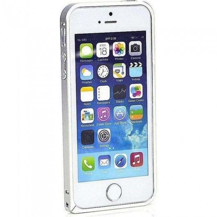 PureProtection Aluminium Bumper pro Apple iPhone 5/5s/SE silver