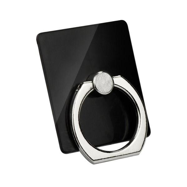 RING holder kroužek na prst pro bezpečné držení telefonu v jedné ruce černý