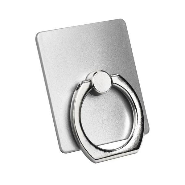 RING holder kroužek na prst pro bezpečné držení telefonu v jedné ruce stříbrný