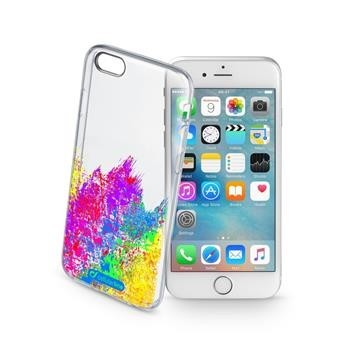 Průhledné gelové pouzdro Cellularline STYLE pro Apple iPhone 6/6S, motiv ART
