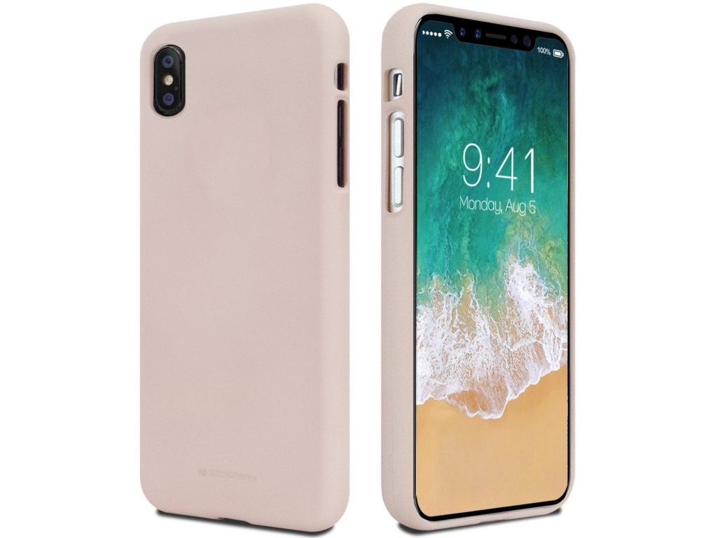 MERCURY GOOSPERY Soft Feeling Case pro iPhone X - Pink Sand