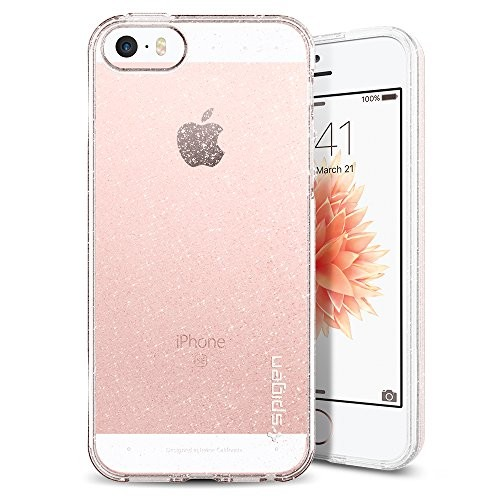 Spigen Apple iPhone SE 5S Liquid Air Glitter - čirý se třpytkami ... 7bada0f4360