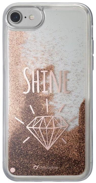 Gelové pouzdro Cellularline Stardust pro Apple iPhone 8/7/6S/6, motiv SHINE
