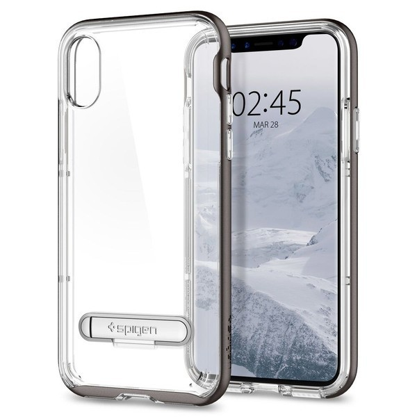 Spigen Crystal Hybrid Universal Metal Kickstand pro iPhone X