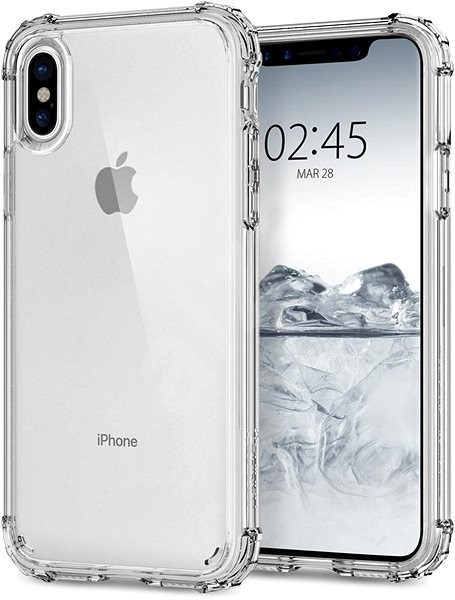 Spigen Crystal Shell pro iPhone X čirý