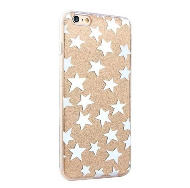 Mercury zadní kryt pro iPhone 6/6S Glitter Stars Gold