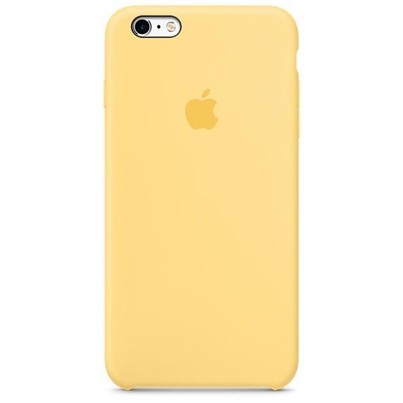 Apple Silikonové pouzdro Apple iPhone 6/S žluté