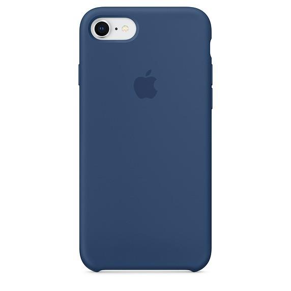 Apple silikonové pouzdro pro iPhone 7/8 - Blue Cobalt/ Modrý kobalt