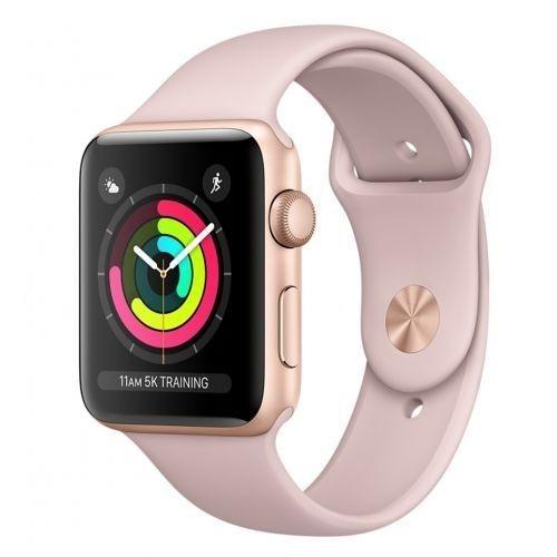 Apple Watch series 3 42mm, Zlatý hliník pískově růžový sportovní řemínek