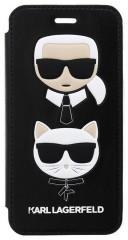 Karl Lagerfeld Karl and Choupette pouzdro iPhone X/XS černé