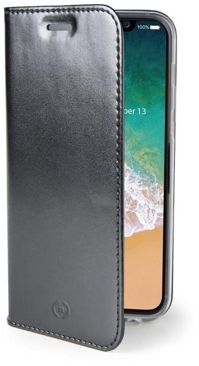 Ultra tenké pouzdro typu kniha CELLY Air pro Apple iPhone X/XS - černé