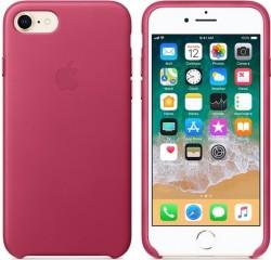 Apple kožené pouzdro pro iPhone 7/8 - Pink Fuchsia/ Růžový fuchsia