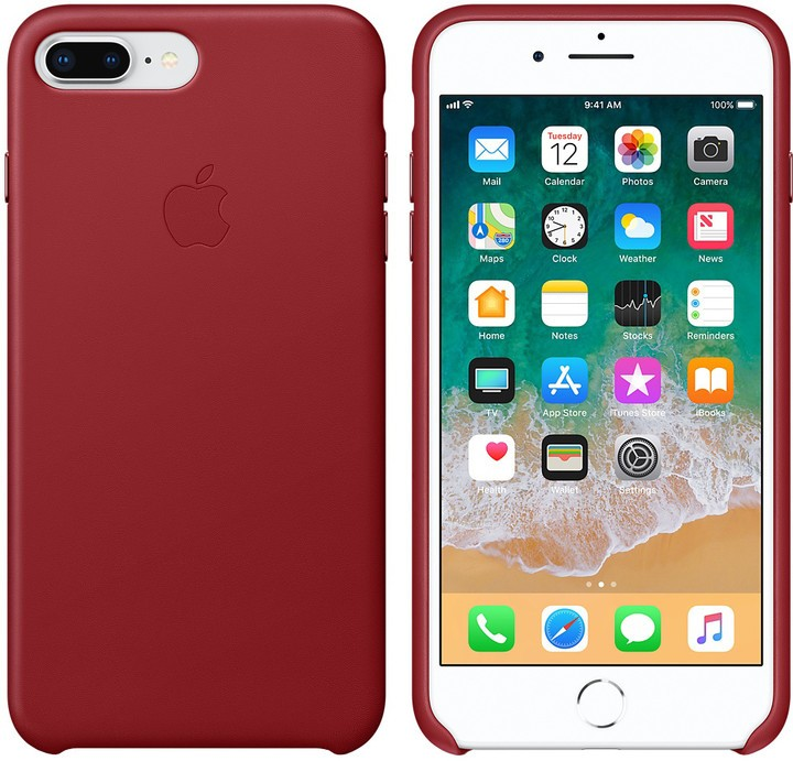 Apple kožené pouzdro pro iPhone 7 8 Plus - Red  Červená fe4ba0a063b