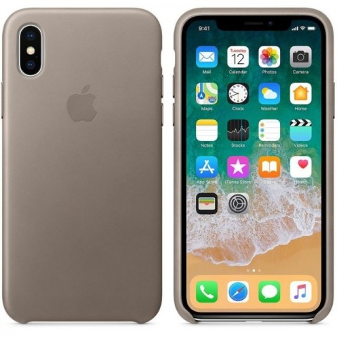 Apple iPhone X Leather Case MQT92ZMA - Taupe
