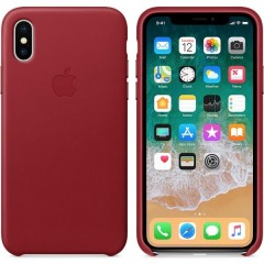 Apple iPhone X Leather Case MQTE2ZMA/A - Red