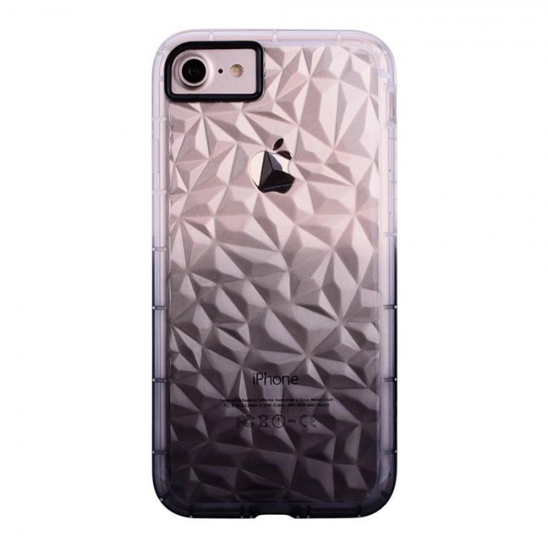 Ochranný kryt Crystal s 3D efektem pro Apple iPhone 6/6S Fialový