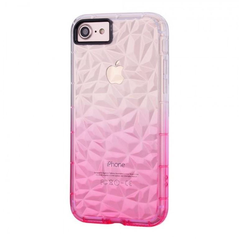 Ochranný kryt Crystal s 3D efektem pro Apple iPhone 6/6S Růžový