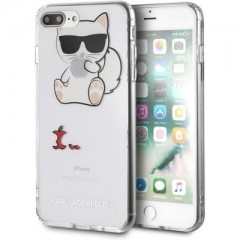 Karl Lagerfeld Fun Eaten No Rope Hard Case iPhone 7/8 Plus čiré