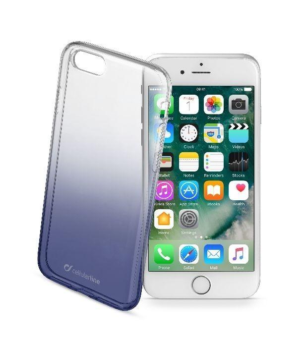 Ultratenký průhledný zadní kryt CellularLine SHADOW pro Apple iPhone 7, TPU, černý