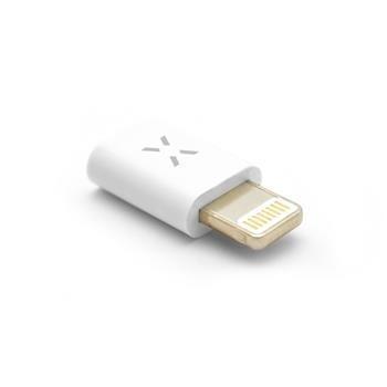 Redukce FIXED pro nabíjení a datový přenos z microUSB na Lightning, podpora iOS 10.x a nižší, bílá