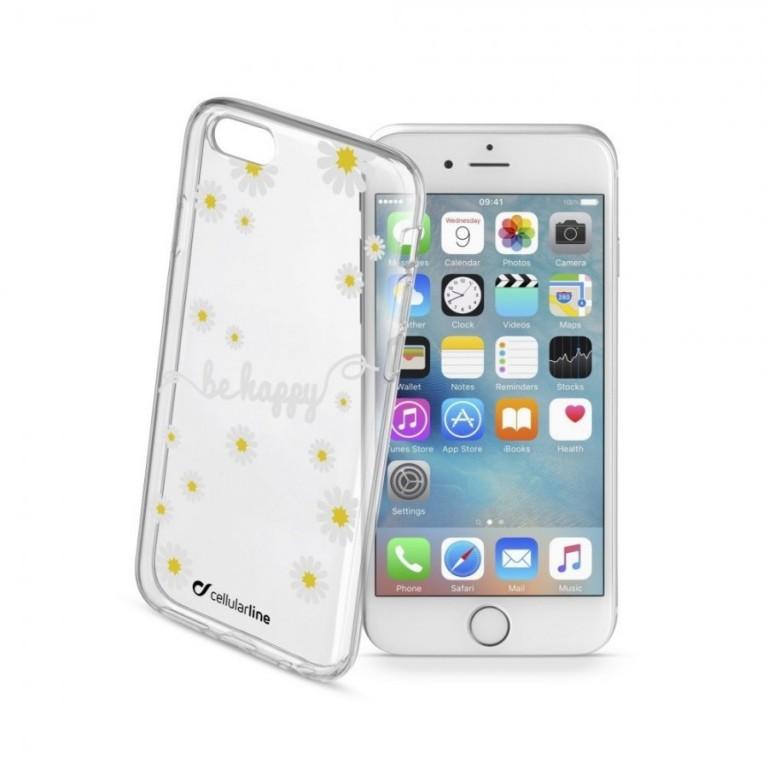 Průhledné gelové pouzdro Cellularline STYLE pro iPhone 6/6S, motiv FLOWER