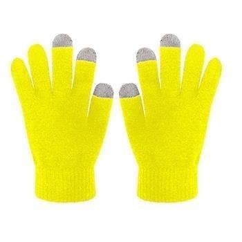 Zimní rukavice CELLY Touch Gloves - Žluté - velikost S/M