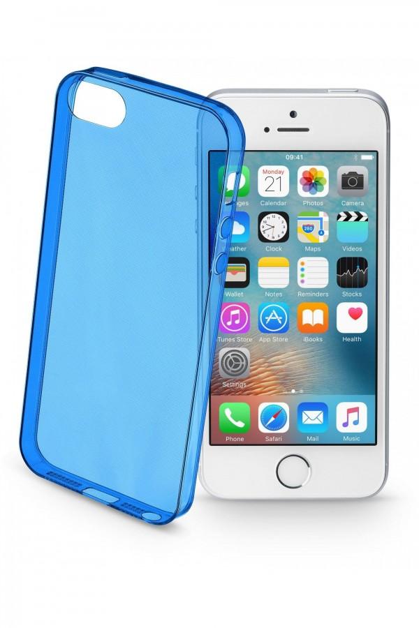 Barevné gelové pouzdro CELLULARLINE COLOR pro Apple iPhone 5 5S SE - Modré 592f2daa9b6