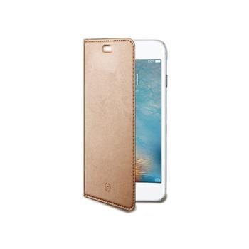 Ultra tenké pouzdro typu kniha CELLY Air pro APPLE iPhone 7/8, PU kůže, růžovozlaté