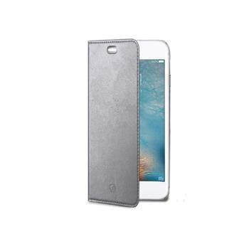 Ultra tenké pouzdro typu kniha CELLY Air pro APPLE iPhone 7, PU kůže, stříbrné