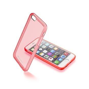 Průhledný zadní kryt CellularLine pro Apple iPhone 6/6S, růžový