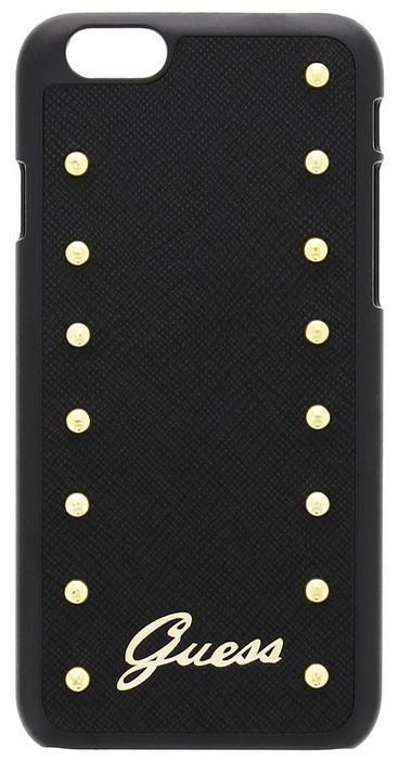 Hard case GUESS pro iPhone 6/6S zlatá dekorace, černé