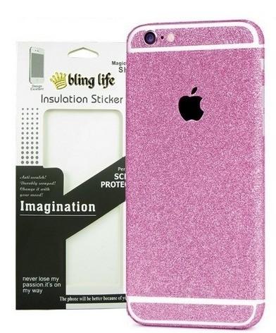 Ozdobné ochranné folie Insulation Sticker na tělo telefonu pro iPhone 6/6s, růžové