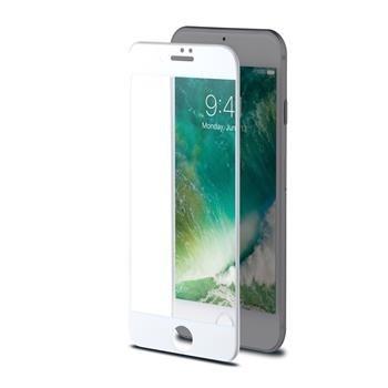 Ochranné tvrzené sklo CELLY Glass pro Apple iPhone 7, bílé (sklo do hran displeje)