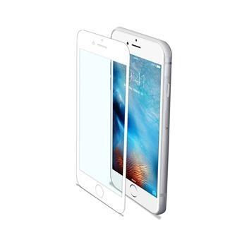 Ochranné tvrzené sklo CELLY Glass pro Apple iPhone 6/6s/7, bílé (sklo do hran displeje, anti blue-ray)
